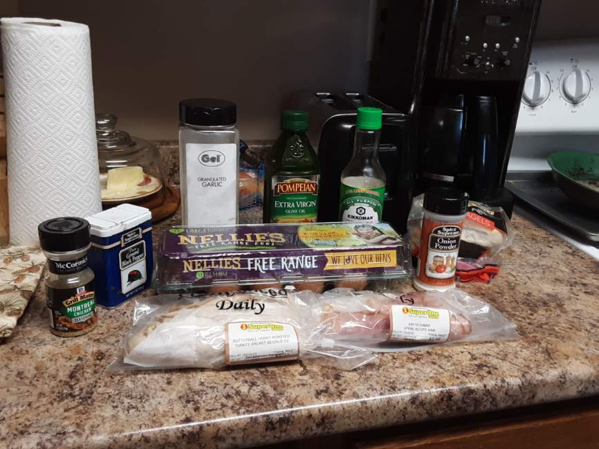 ingredients from a grocery store