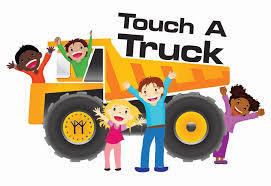 clip art from google of 5 kids near a dump truck
